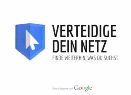 Leistungsschutzrecht Google Kampagne