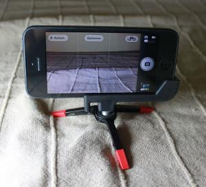 GorillaPod Micro, The Glif und iPhone 5 in Aktion