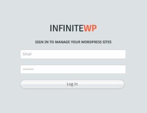 infiniteWP Login