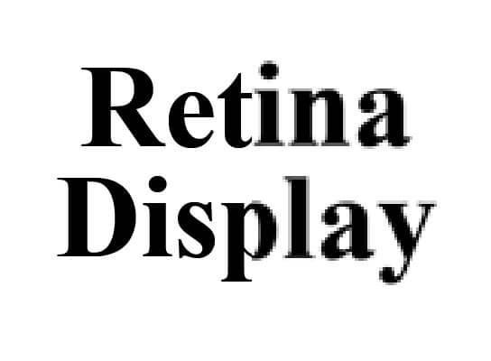 Retina Display Auflösung