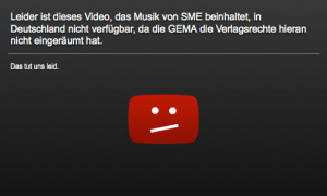 Youtube Video Sperre