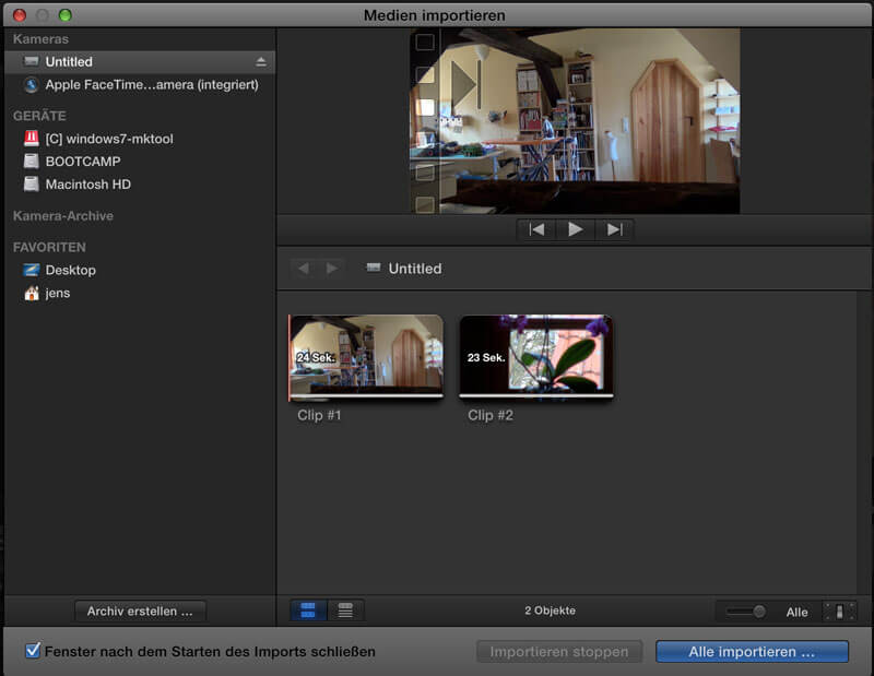 AVCHD Import in Final Cut Pro X