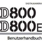 Handbuch für die Nikon D800 in Deutsch