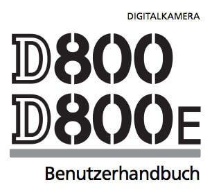 Nikon D800/D800E Handbuch