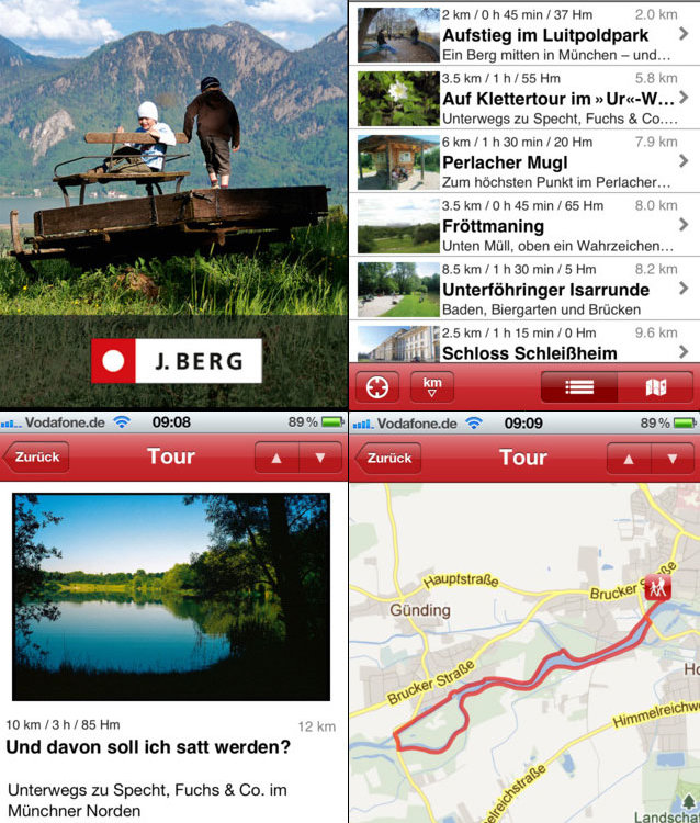 Wandern mit Kindern App Screenshots