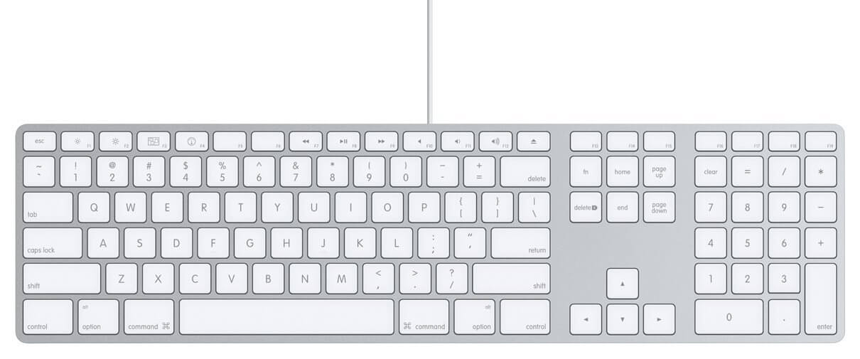 Apple Tastatur mit Ziffernblock