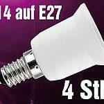 E27-auf-E14 Adapter für Philips Hue LED-Lichtsystem