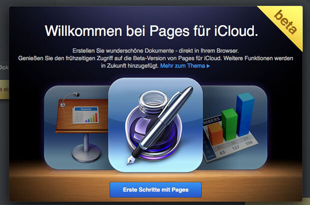 Pages in der iCloud