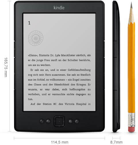 Kindle Classic Abmessungen