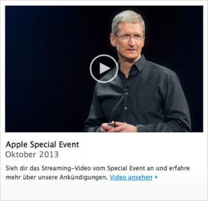 Apple Keynote Oktober 2013