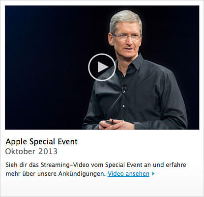 Apple Keynote Oktober 2013