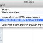 Anleitung: Firefox Lesezeichen in Safari importieren