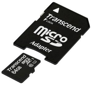 64 GB SDXC Karte von Transcend im Angebot