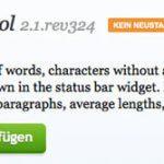 Firefox Addon zum Zählen von Worten und Zeichen