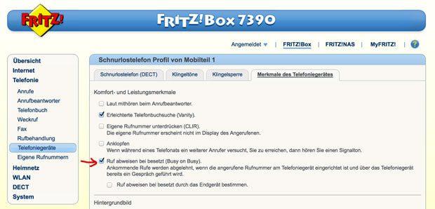 Fritzbox Besetztzeichen bei besetzt