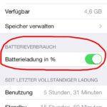 Akkuanzeige am iPhone in Prozent (%) einstellen