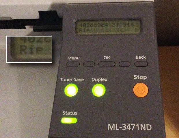 Samsung ML-3471ND RIP Error