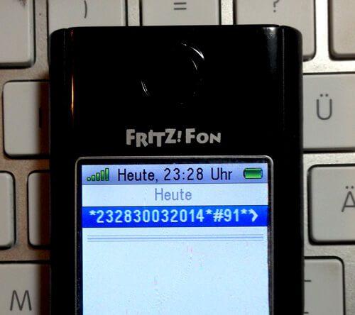 Fritz!Fon Datum und Uhrzeit