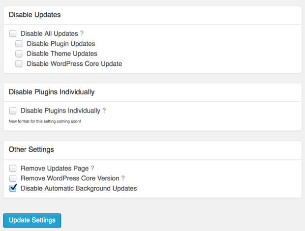 Disable Updates Manager