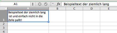 Excel Zeilenumbruch in Tabellenzelle