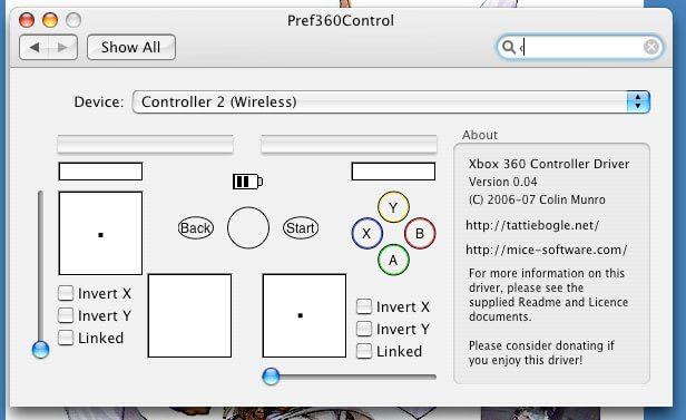 Kontrollfeld XBox 360 Controller