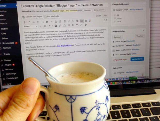 erste Blogparade mit Kaffee
