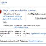 Fehler Code 800736B3 bei der Installation von Windows 7 Updates