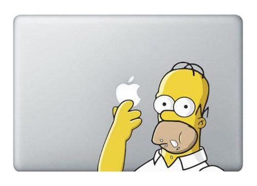 MacBook Sticker Homer Simpson