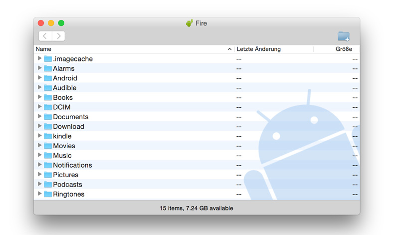 Dateitransfer Mac - Android