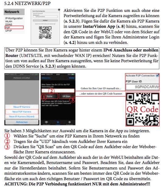 Dieser Auszug aus dem PDF-Handbuch der Instal-Kamera zeigt, wie man sie einrichtet, dass man die Kamera über das mobile Datennetz abfragen kann (anklicken zum Vergrößern).