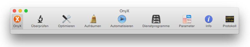 OnyX Toolbar