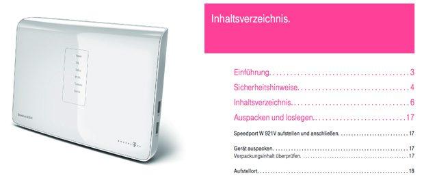 Speedport W921V Anleitung