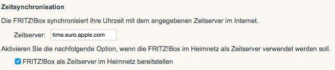 Fritz Box Time-Server