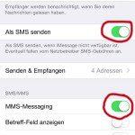 MMS am iPhone ausschalten und Kosten sparen