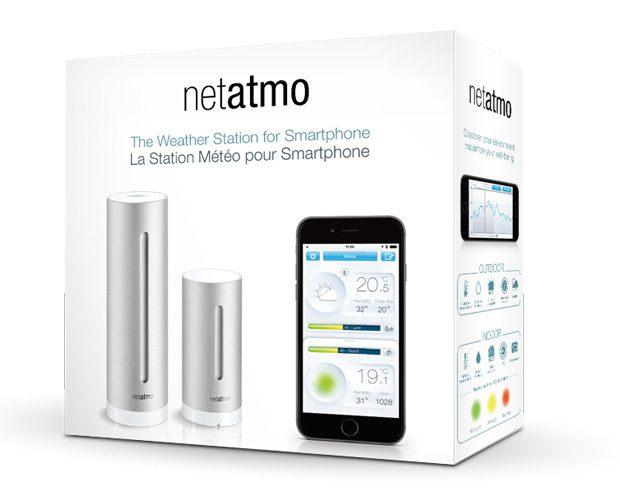 Die Netatmo WLAN Wetterstation im Paket NWS01 enthält die Basistation und einen Aussensensor.