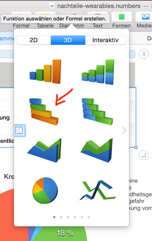 Numbers Diagramme in 3D