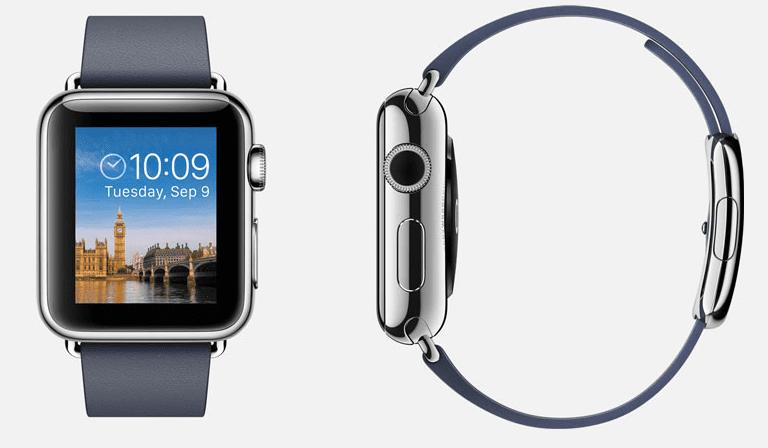 Apple Watch Seitenaufnahme