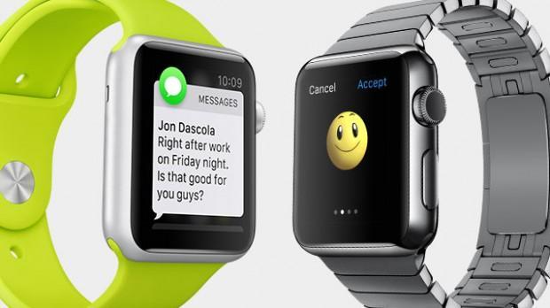 Apple Watch mit grünem und silbernem Armband