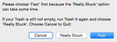 Trash it Dialog