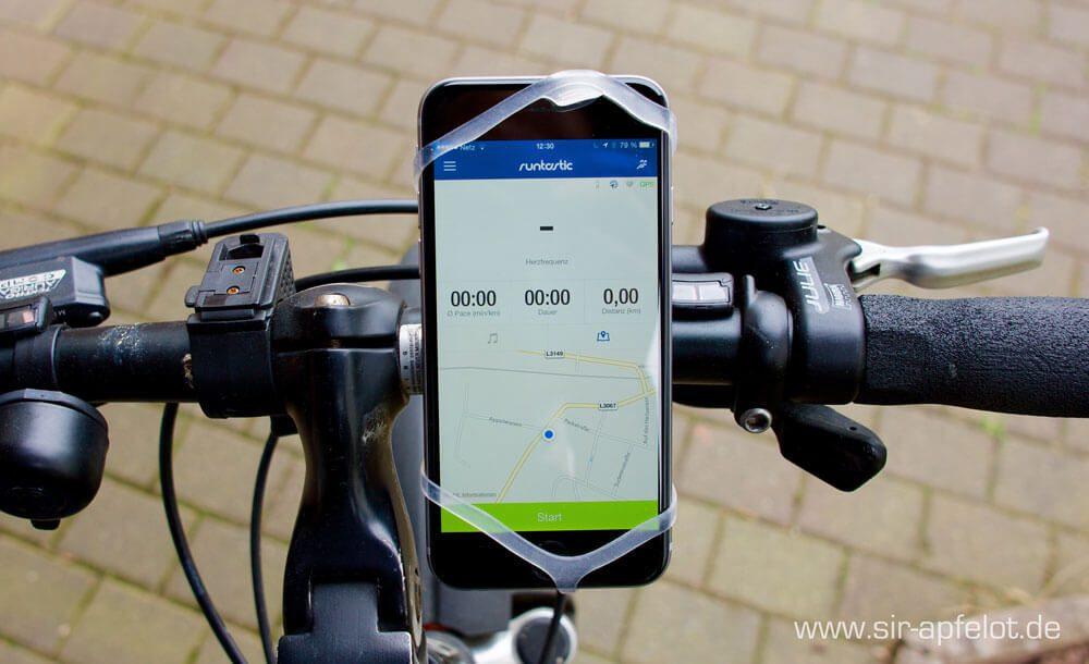 FINN 2 Fahrradhalterung am Lenker montiert