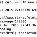 HTTP Header Status mit dem Mac OS X Terminal herausfinden