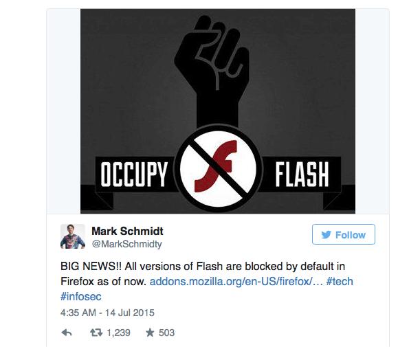 Mark Schmidt über Flash auf Twitter