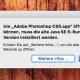 Nach der Aktualisierung auf OS X El Capitan bekommt man beim Start von Photoshop CS5 dieses Info-Fenster mit dem Hinweis auf die alte Java Runtime-Version.