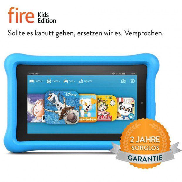 Das Amazon Tablet für Kinder: Fire Kids Edition, 7 Zoll Display, WLAN, 8 GB, Kindgerechte Schutzhülle