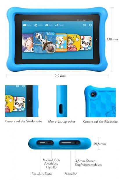 Die technischen Details des Fire HD Kids Edition sind überzeugend – das ist kein Tablet, das nach einem Jahr uninteressant für die Kinder geworden ist.
