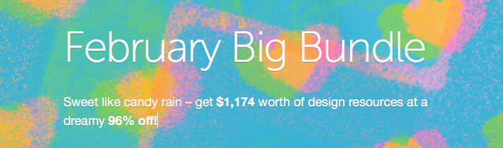 February Big Bundle auf Creative Market
