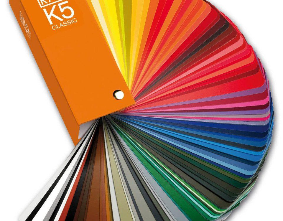 Foto von RAL-K5-Farbfächer glänzend