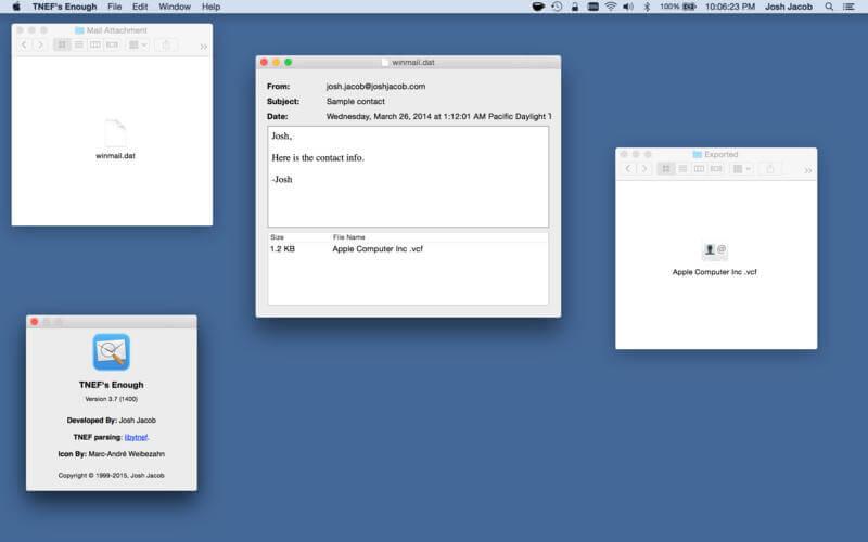 TNEF's enough Screenshot Mac App