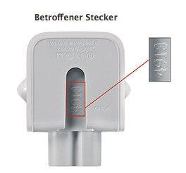Apple Stecker betroffen