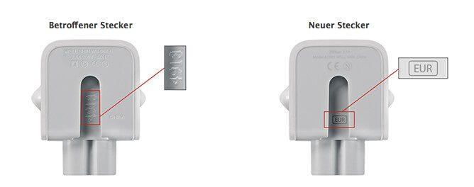 Apple Netzteilstecker im Vergleich